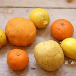 Orange and Lemon Play Dough
