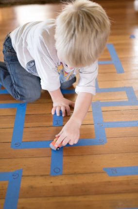 This maze activity has got to be one of my favorite go-to activities to learn a letter. We do this over and over again with different letters!