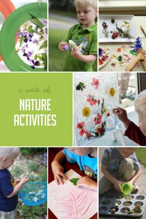 A week of nature activities for kids to do!