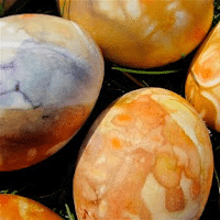 Natural Tie-Dyed Eggs
