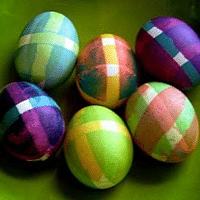 Plaid Taped Eggs