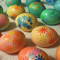 Decoupaged Eggs