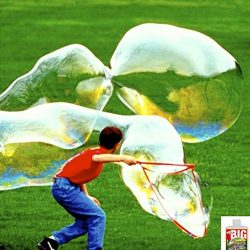 Have a giant bubble blowing contest!