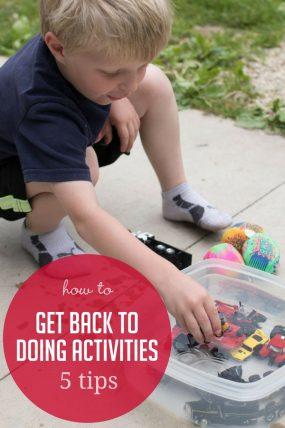 get back to doing activities