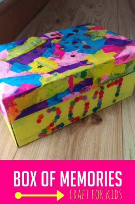 This box of memories is a great way to keep kids' special memories alive!