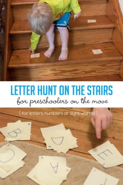 I love letter activities that get them moving, like this one!