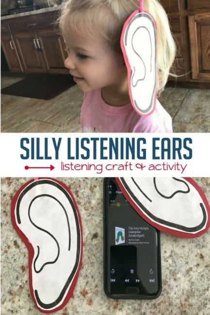 This is such a cute listening ears craft to help kids LISTEN during audiobooks and other activities.