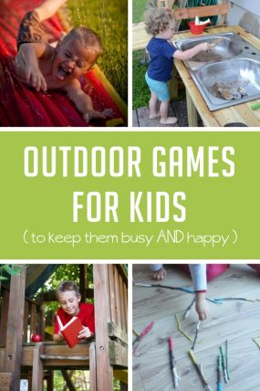 Here are some super simple outdoor games and activities to keep the kids busy this summer!