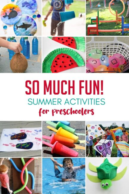 Summer crafts the kids MUST make this summer! Water activities, outdoor kids games, and crafty summer adventures for preschoolers to do at home.