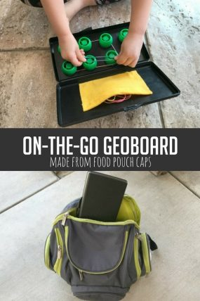 On-the-Go Geoboard Using Food Pouch Caps