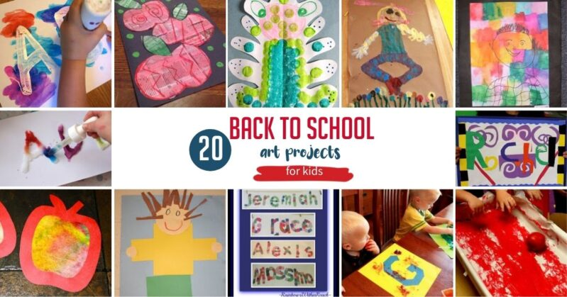 20 back to school art projects for kids to do