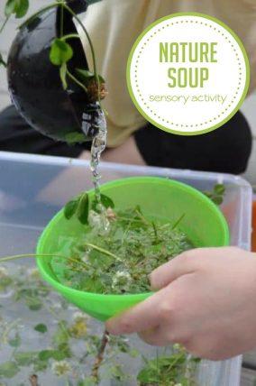 Nature soup sensory activity - so simple!