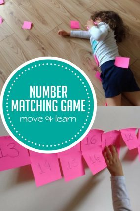 This silly rolling number matching game is a fun way to work on number recognition and burn off some energy at the same time!