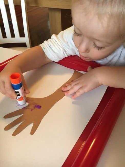 Handprint Apple Tree craft is a sweet fall keepsake too!
