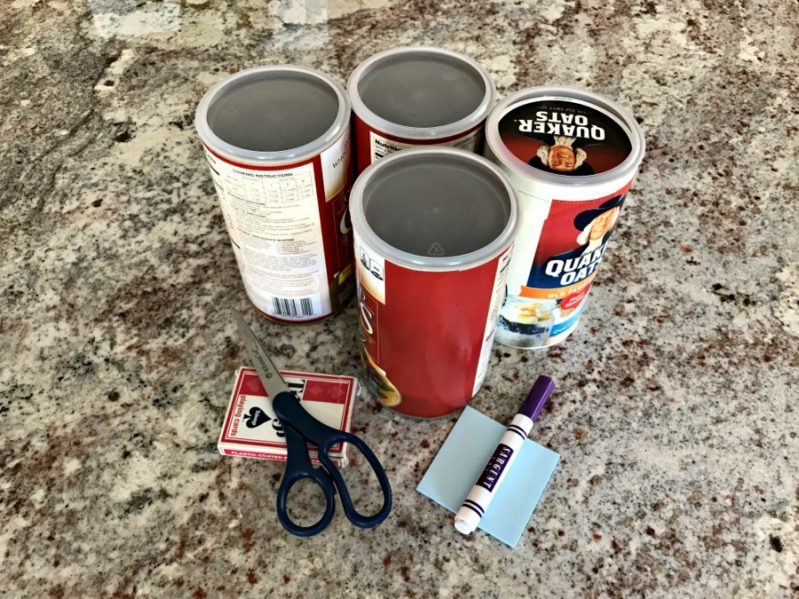 You'll need a few basic supplies for your card sorting slot activity.