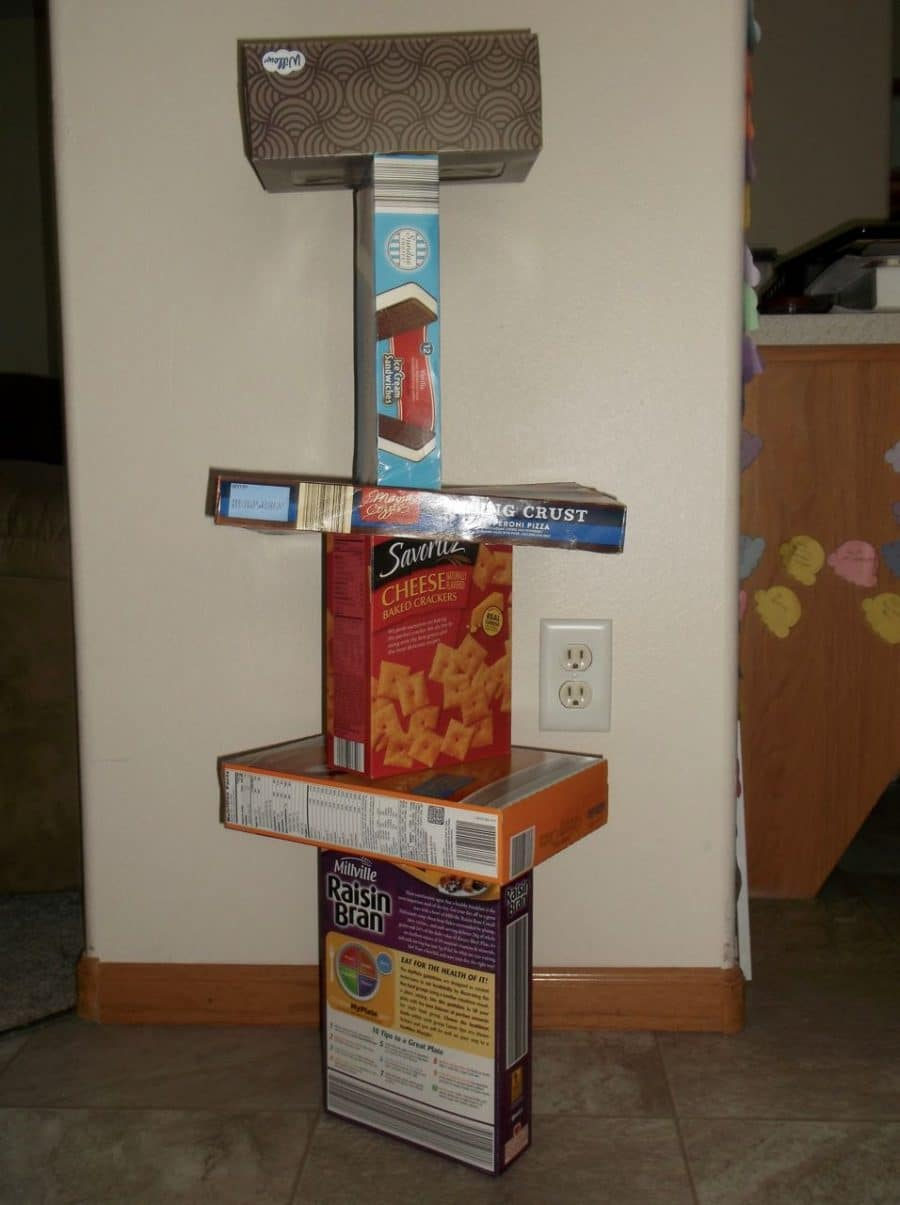 Tower building without blocks - use boxes!