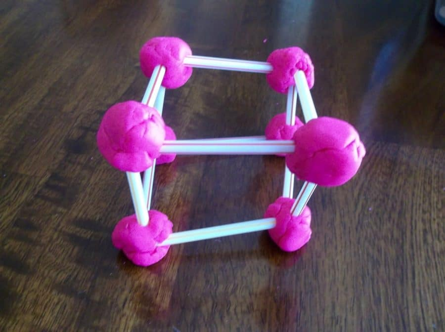 Tower building without blocks - use play dough and straws!