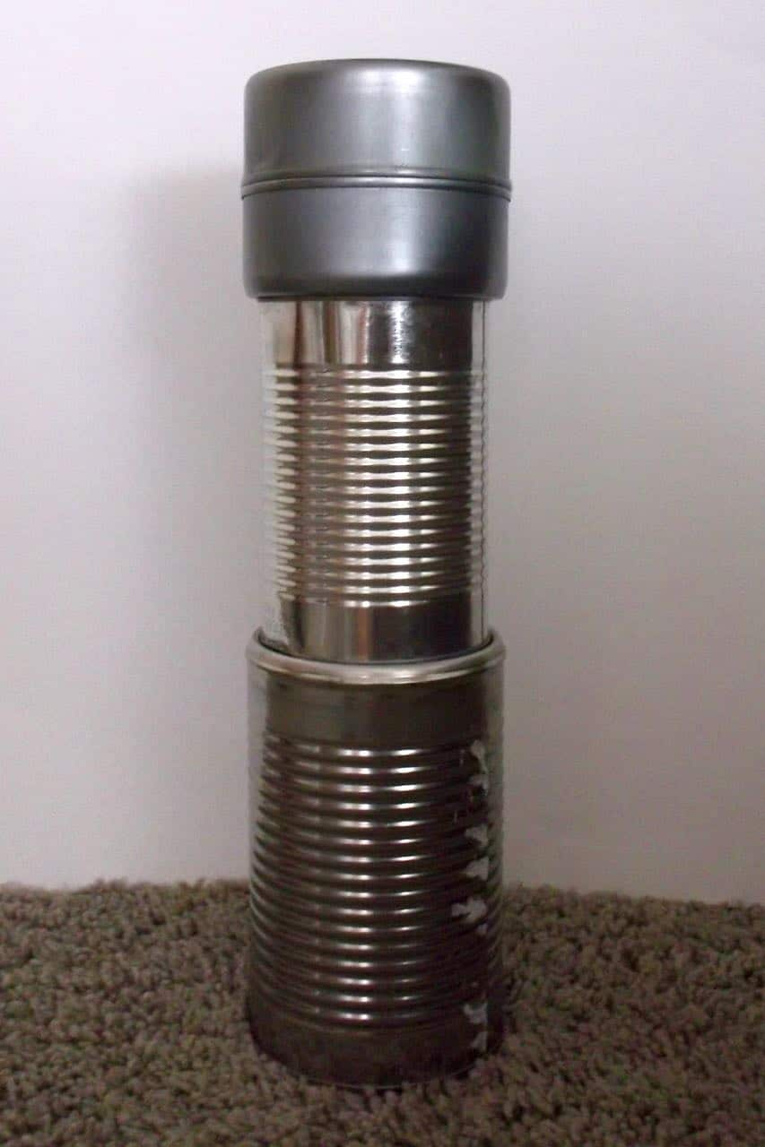 Tower building without blocks - use cans!