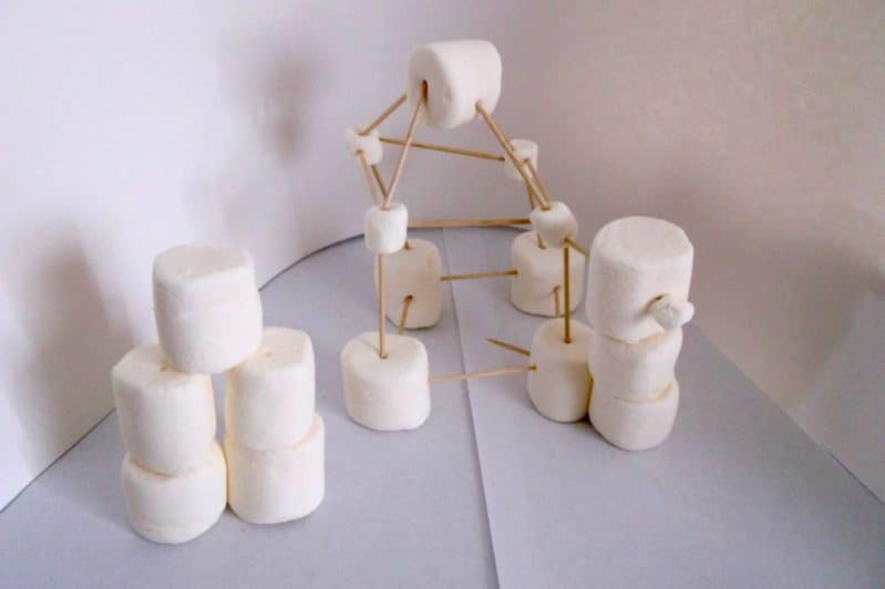 Tower building without blocks - use marshmallows and toothpicks!