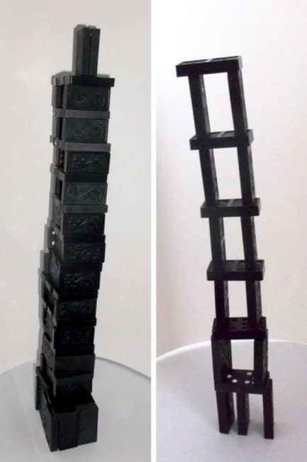 Tower building without blocks - use dominoes.