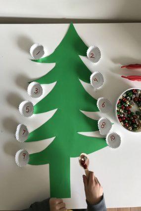 fine motor christmas tree transfer activity