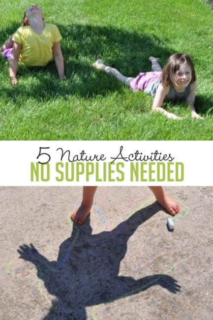 No supplies on hand? Get outside and try these 5 simple nature activities.