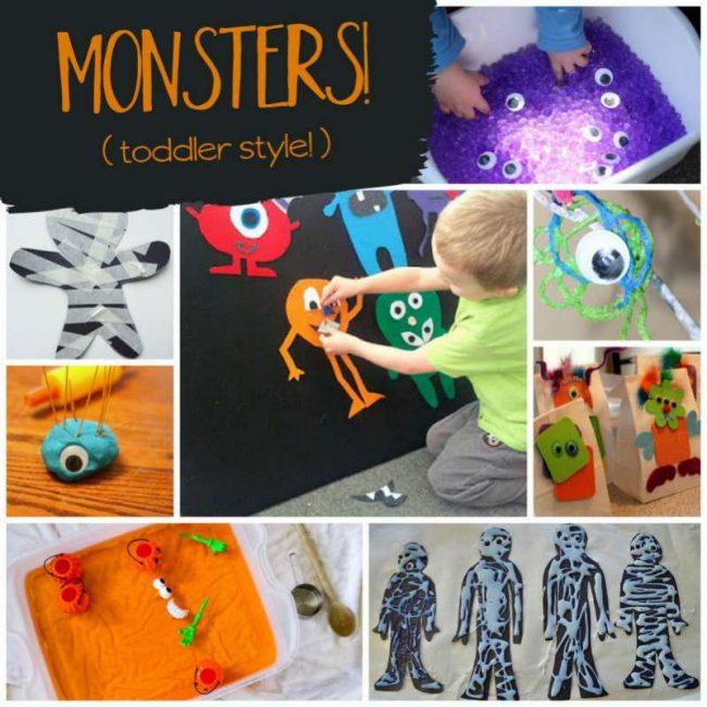 Monster Halloween activities (toddler style)