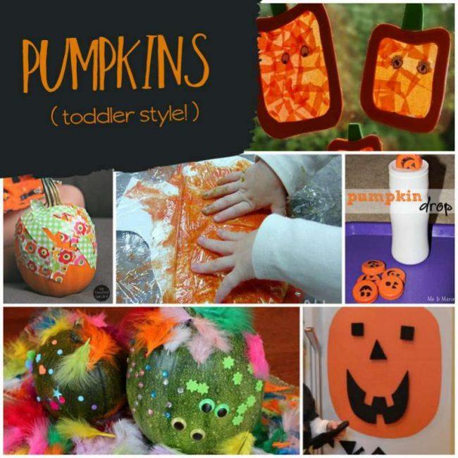 Pumpkin Halloween activities for toddlers