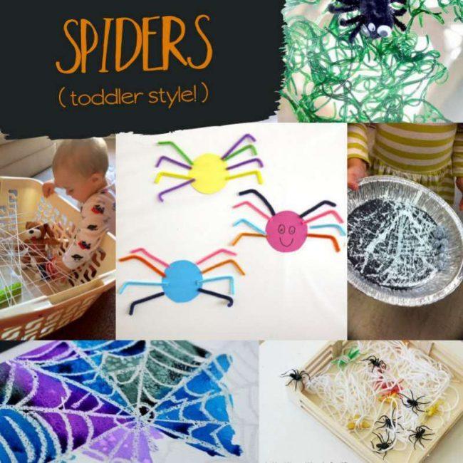 Spider Halloween activities - toddler style