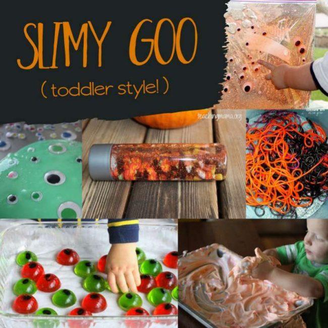 Slimy Goo Halloween activities for toddlers
