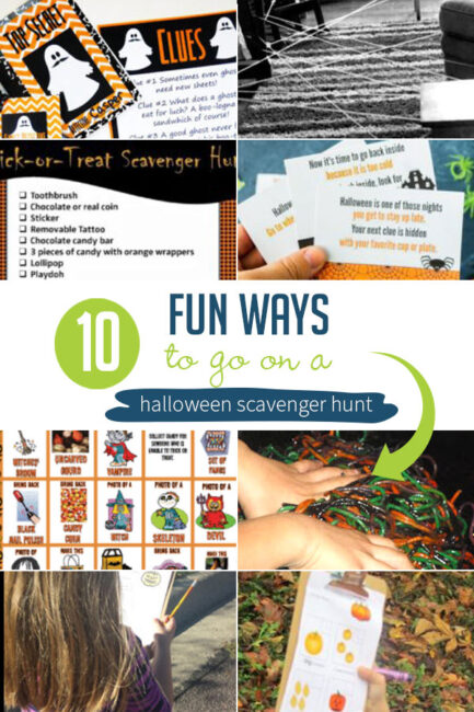 On a search for Halloween scavenger hunt ideas for kids, I found these 10 spooky-fun hunts with pumpkins, spiders, monsters, ghosts and Halloween decorations.