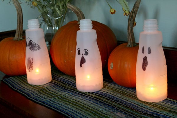 Light up ghosts for kids to make