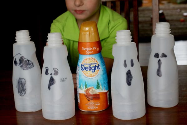Light up ghosts to make for Halloween
