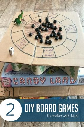 These two super simple DIY board games will keep your kids having fun, while learning, and spending time building relationships and making memories.