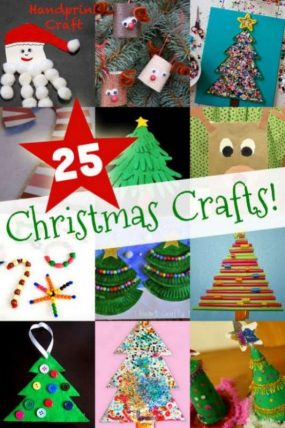 'Tis the season for some easy Christmas crafts for kids, including Christmas trees, Santa and his reindeer, and of course, candy canes too!