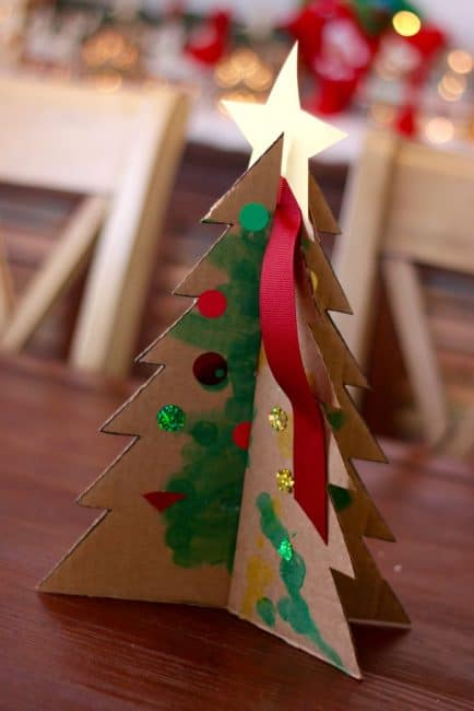 Let your kids help decorate for Christmas with this easy tabletop tree activity.