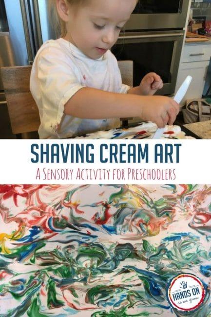 Use this sensory shaving cream activity to create beautiful art.
