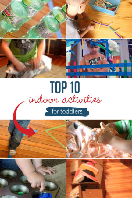 Indoor activities for toddlers are a must when you're stuck inside. These are my top 10 easy and fun toddler activities to do at home. Enjoy!
