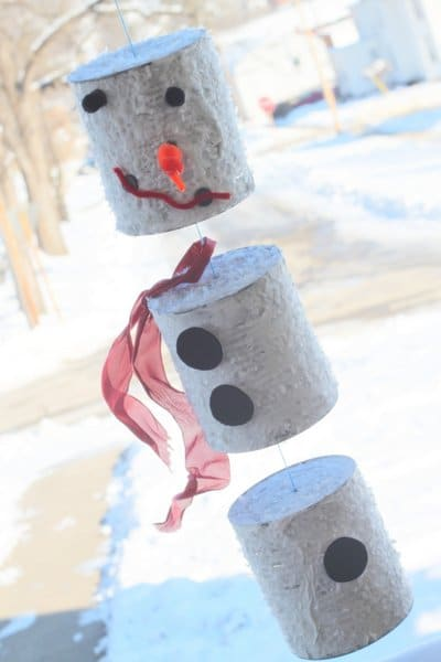 Tin Can Snowman | Breathtakingly Rustic Homemade Christmas Decorations