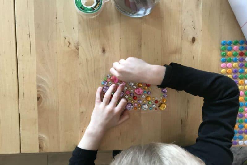 fine motor peeling sticker practice