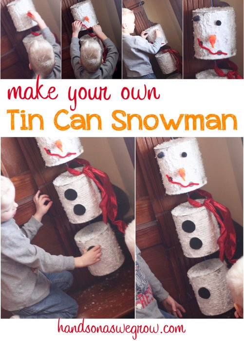 Tin Can Snowman Craft
