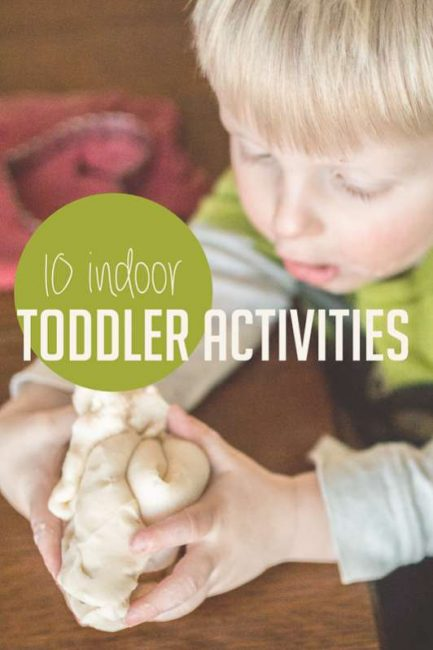 10 indoor activities for toddlers to do when you're stuck inside for awhile