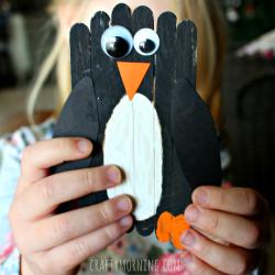 Craft Stick Penguin