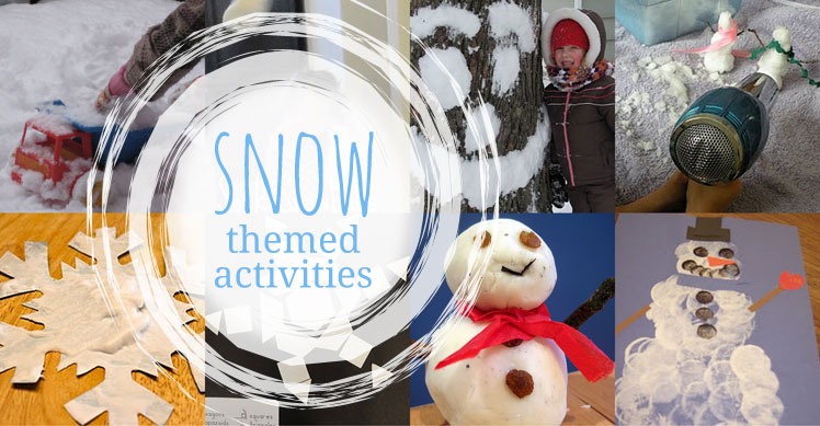 snow theme activities for kids to do