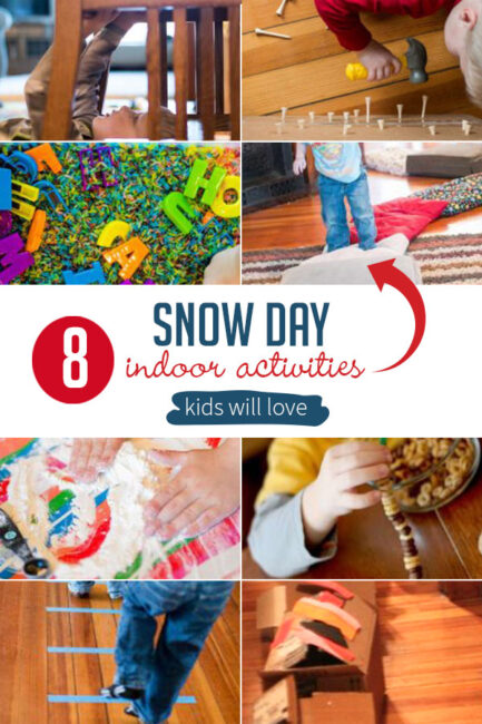 8 sure-fire ways to have a fun snow day with the kids! A go-to list of indoor snow day activities for kids to make snow days one the kids will remember!