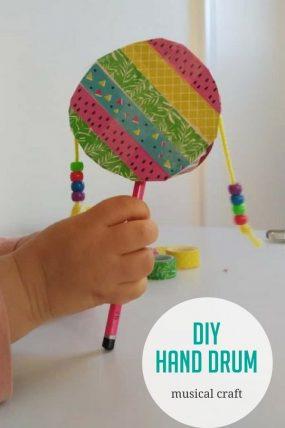 Make a DIY hand drum with a fun musical craft activity