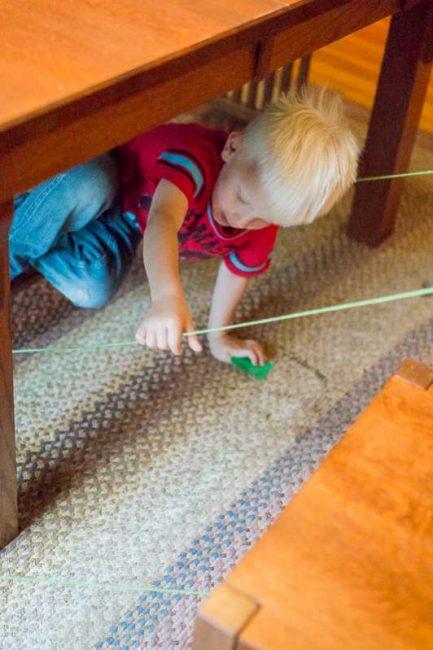 Follow the string scavenger hunt