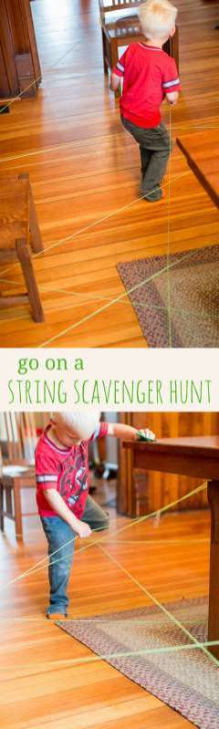 I want to go on a super fun string scavenger hunt!