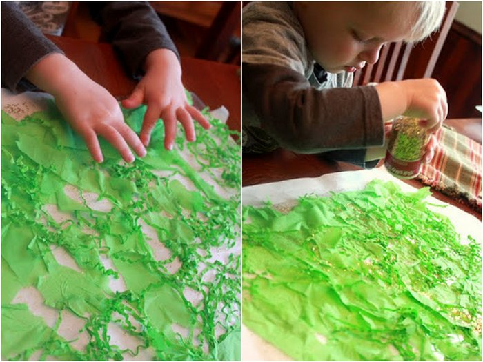 Toddler craft for St Patrick's Day