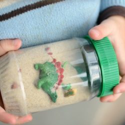 Dinosaur Sensory Bottle- Simple Play Ideas